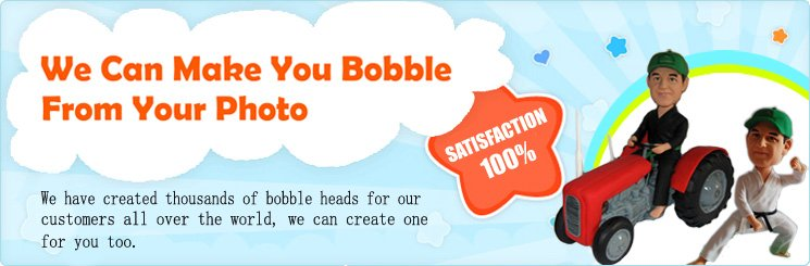 We can make you bobble from your photo